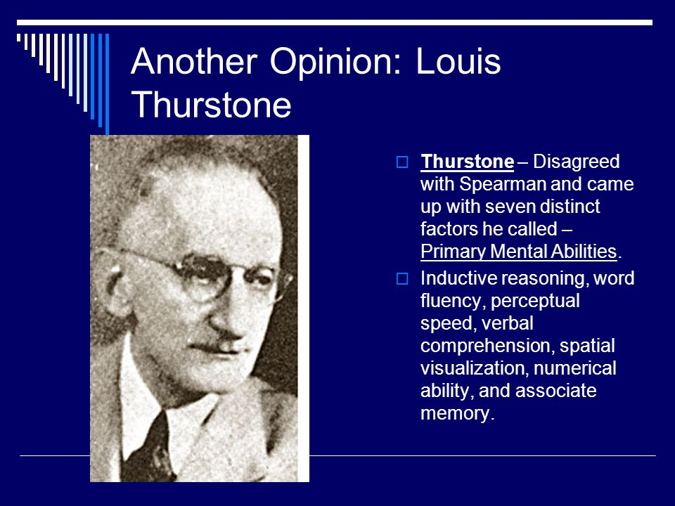 Another Opinion: Louis Thurstone