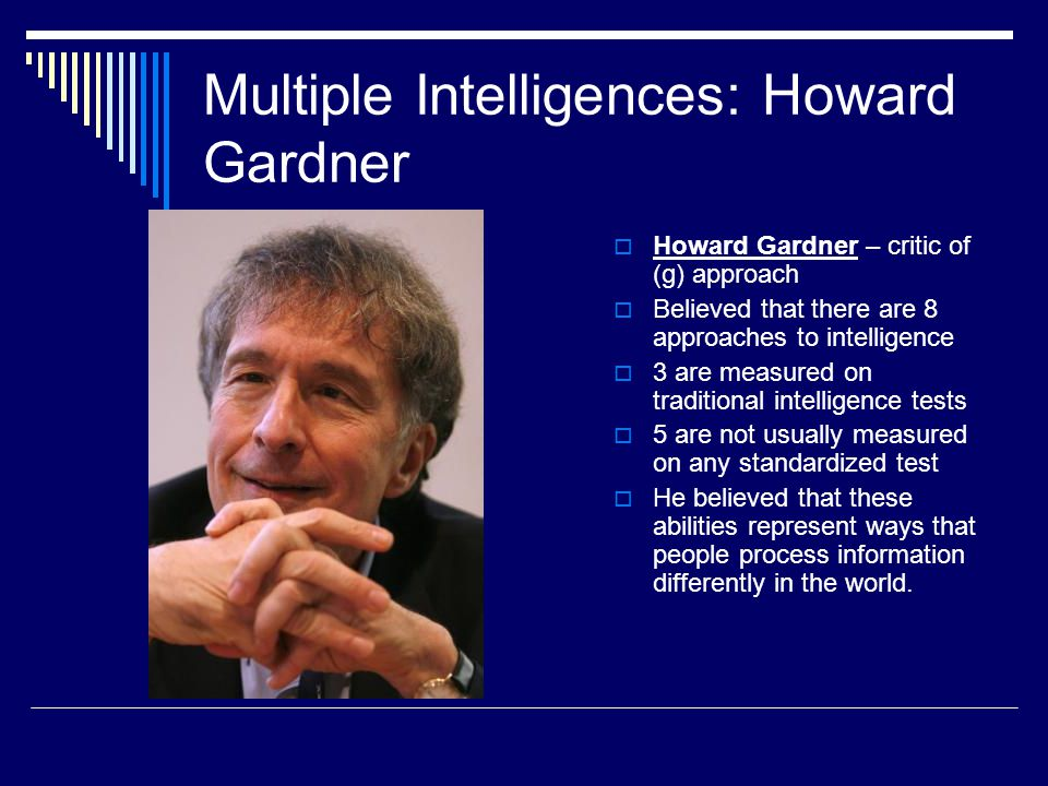 Multiple Intelligences: Howard Gardner