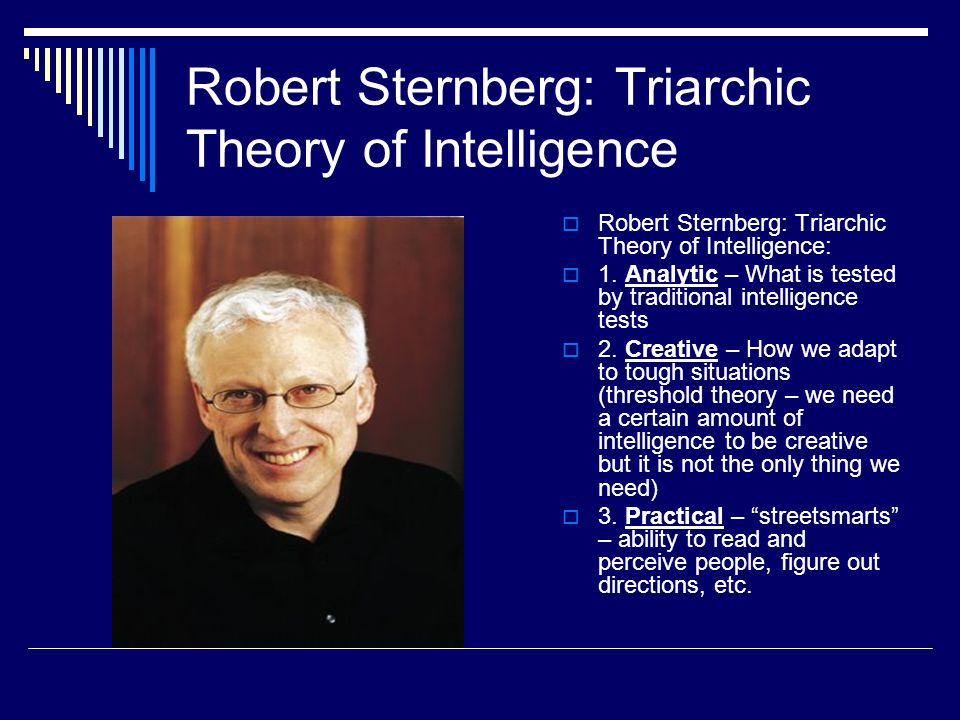 Robert Sternberg: Triarchic Theory of Intelligence