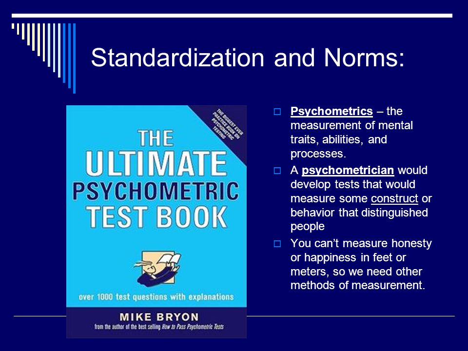 Standardization and Norms: