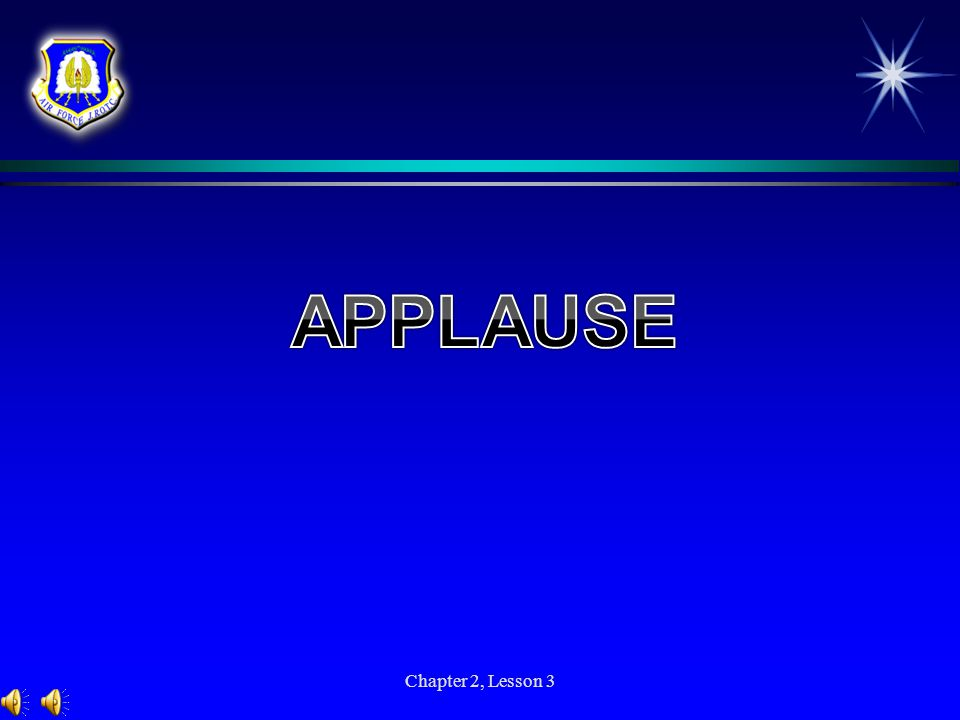 APPLAUSE Chapter 2, Lesson 3