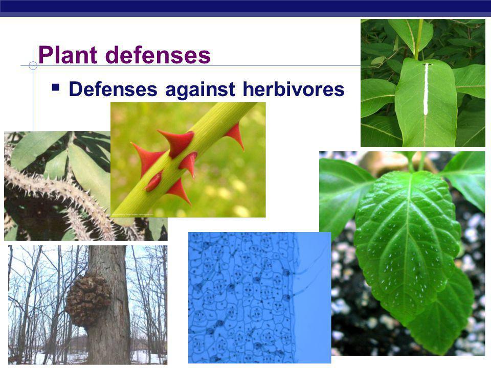 Plant defenses Defenses against herbivores