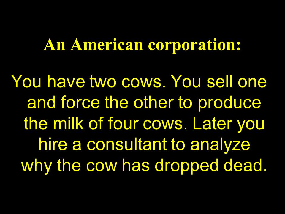 An American corporation: