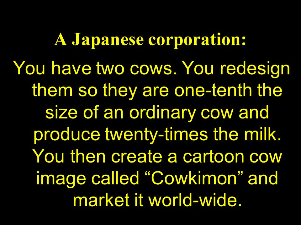 A Japanese corporation: