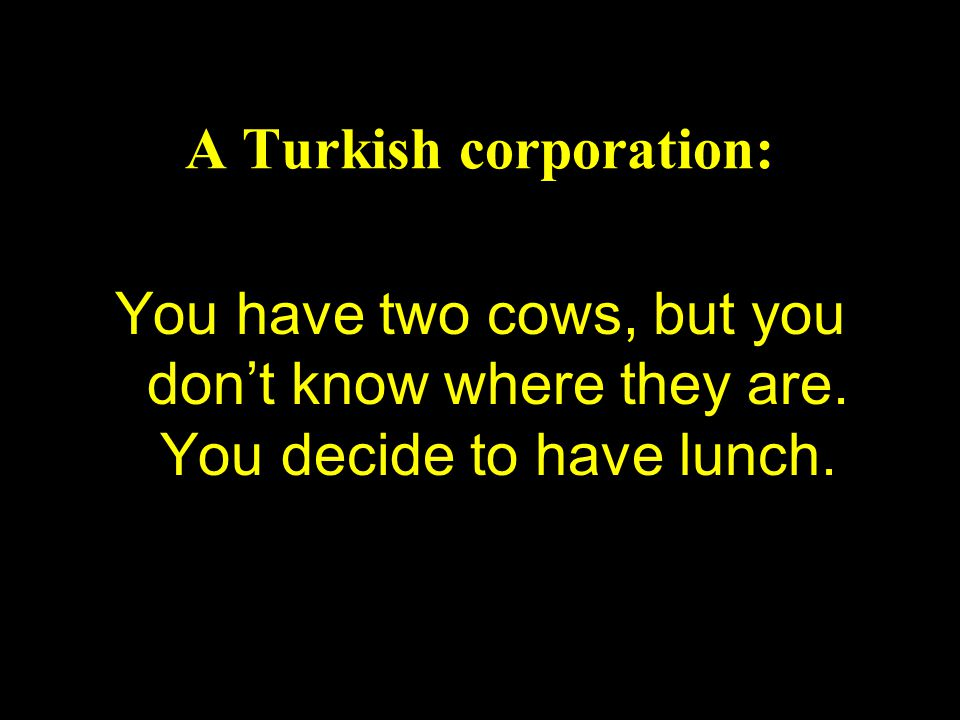 A Turkish corporation: