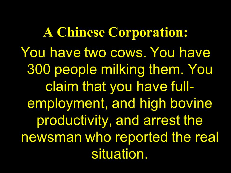 A Chinese Corporation: