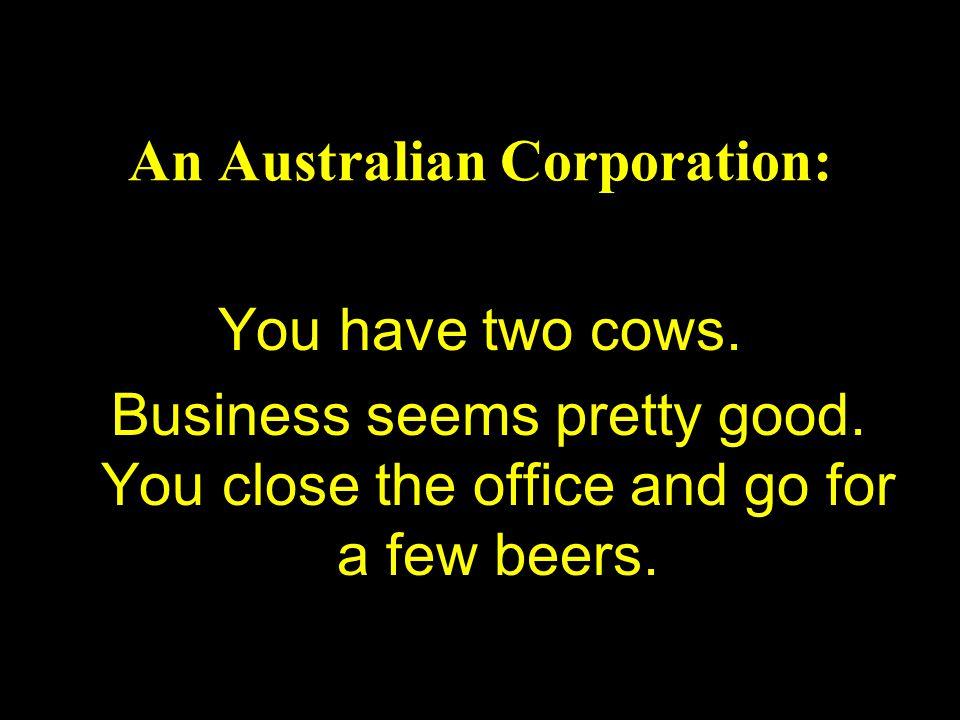 An Australian Corporation: