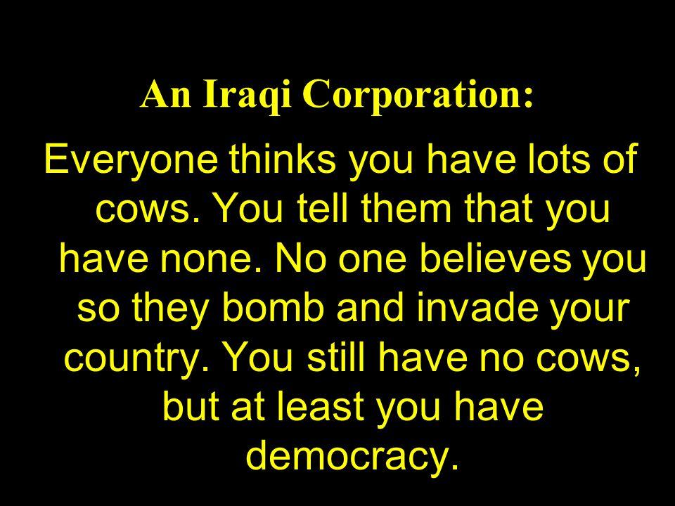 An Iraqi Corporation: