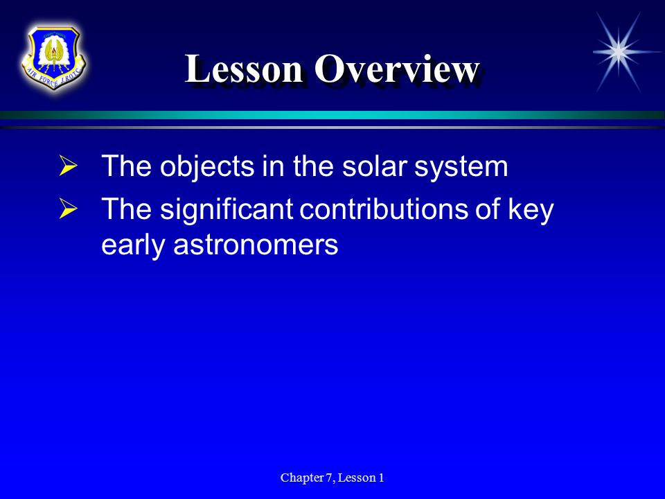 Lesson Overview The objects in the solar system