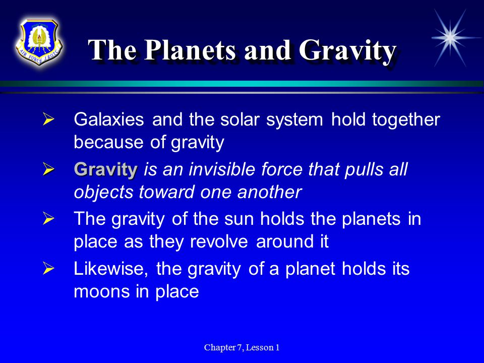 The Planets and Gravity
