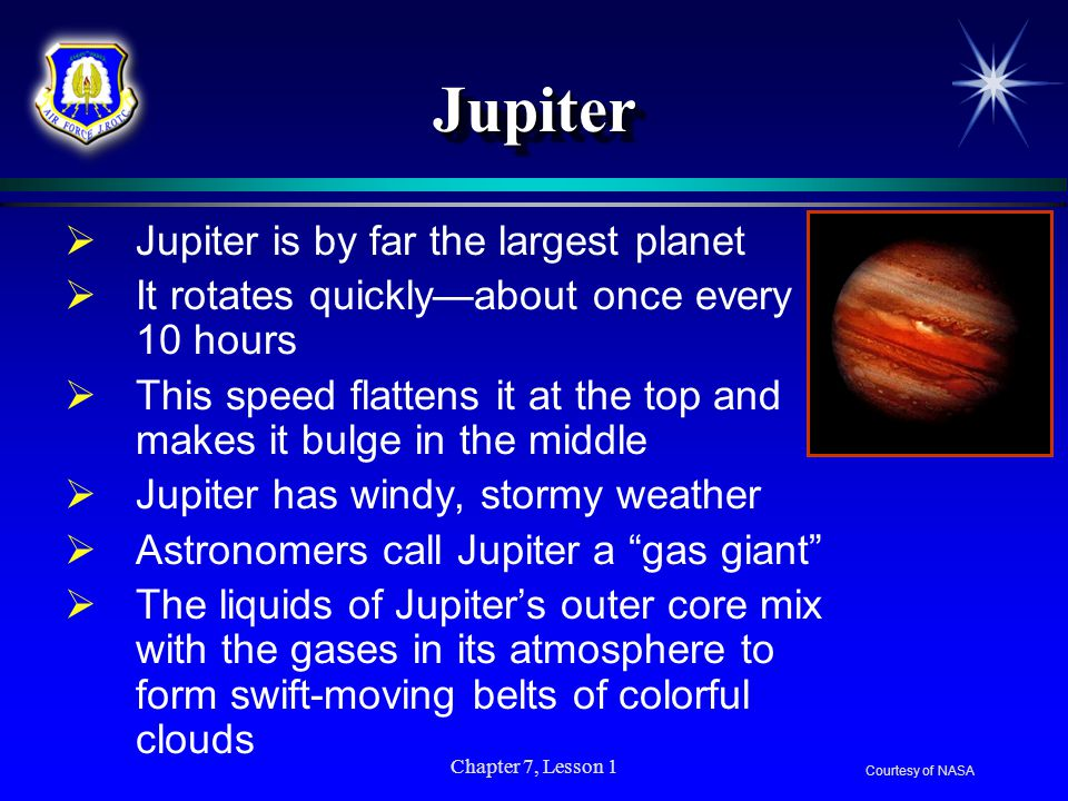 Jupiter Jupiter is by far the largest planet