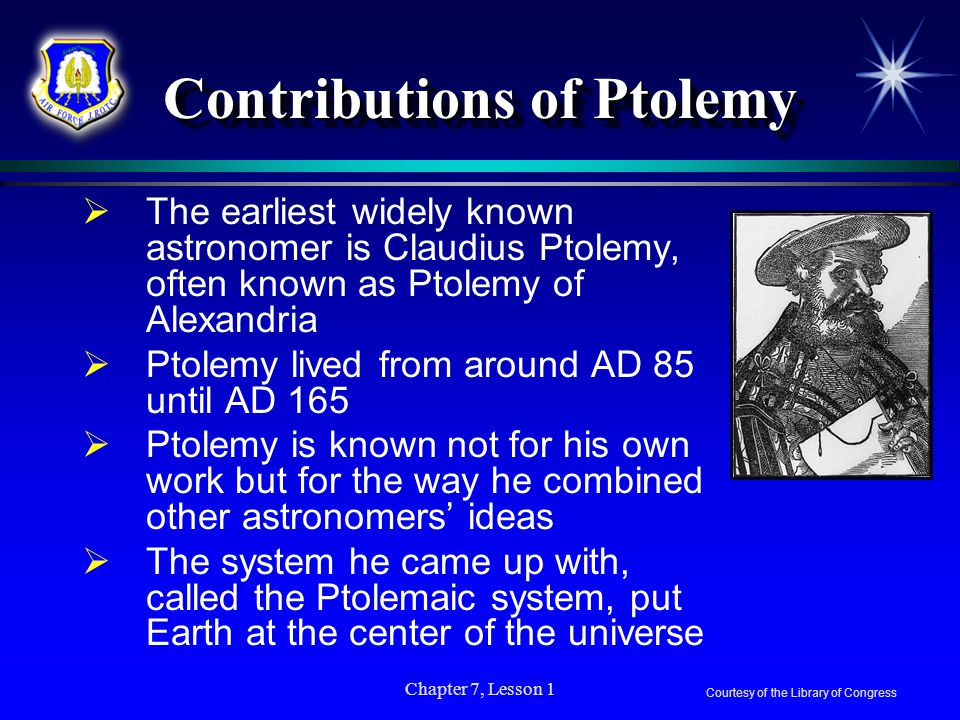 Contributions of Ptolemy