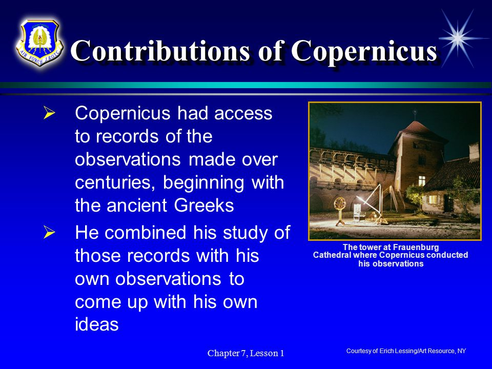 Contributions of Copernicus