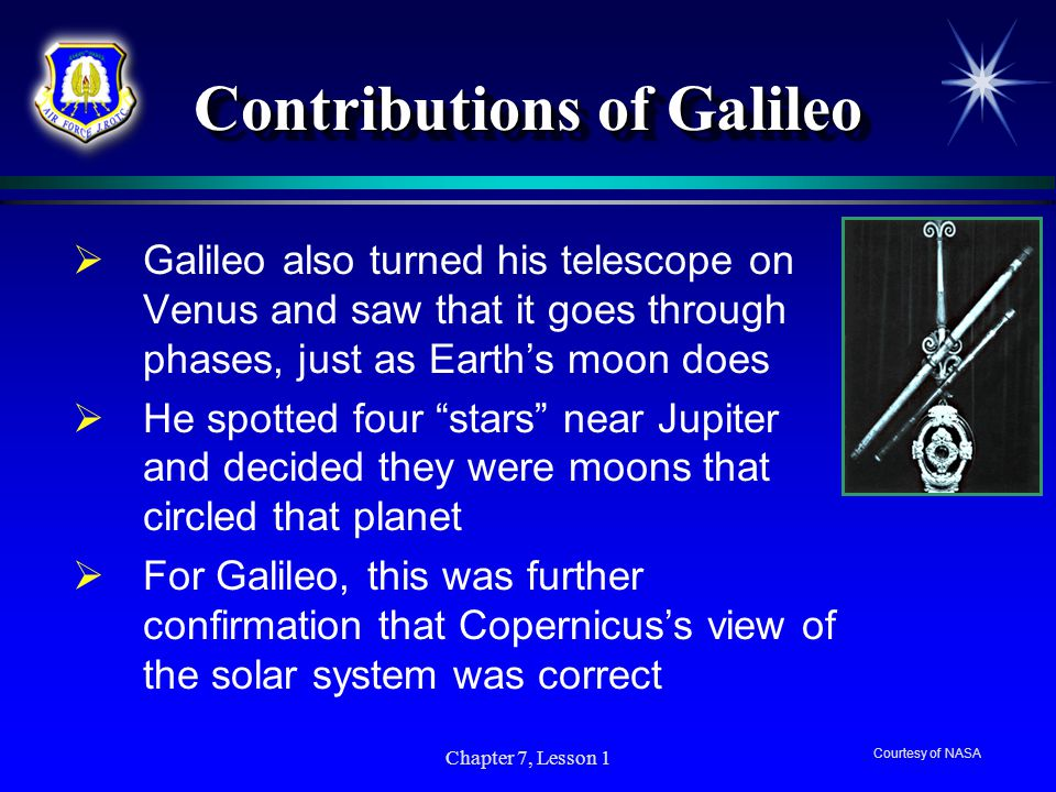 Contributions of Galileo