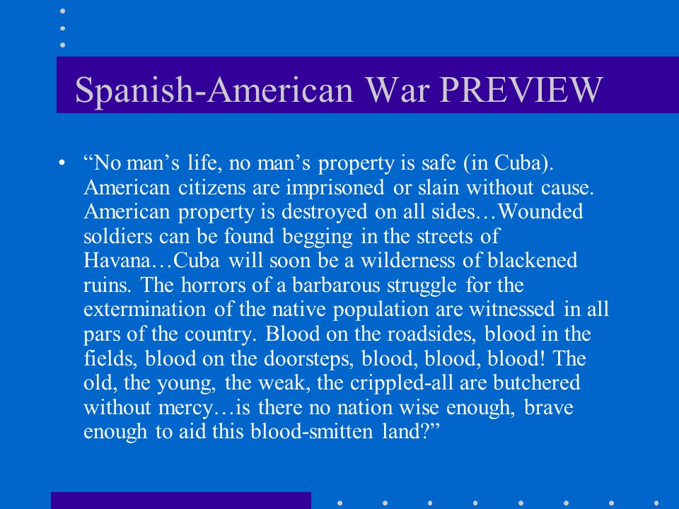 Spanish-American War PREVIEW