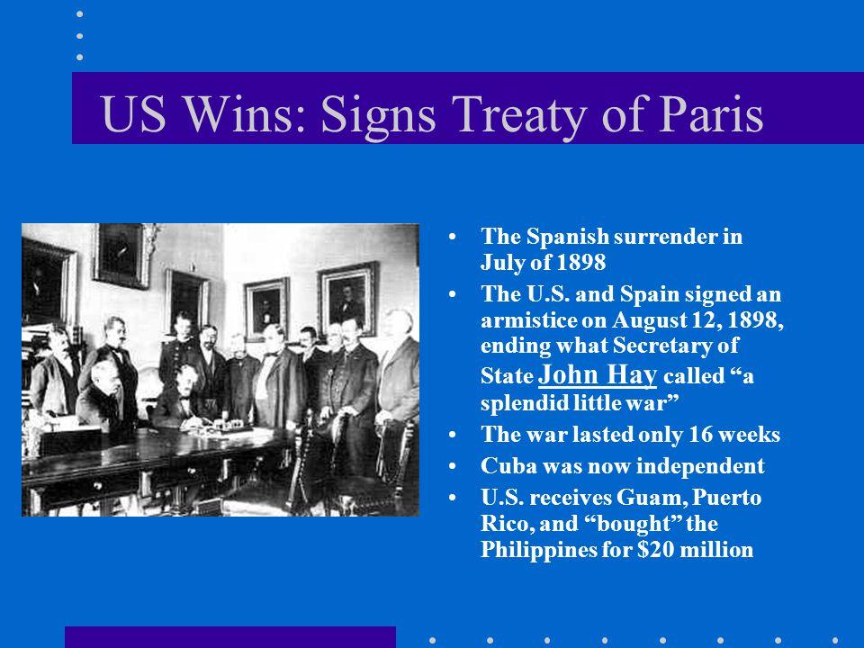 US Wins: Signs Treaty of Paris