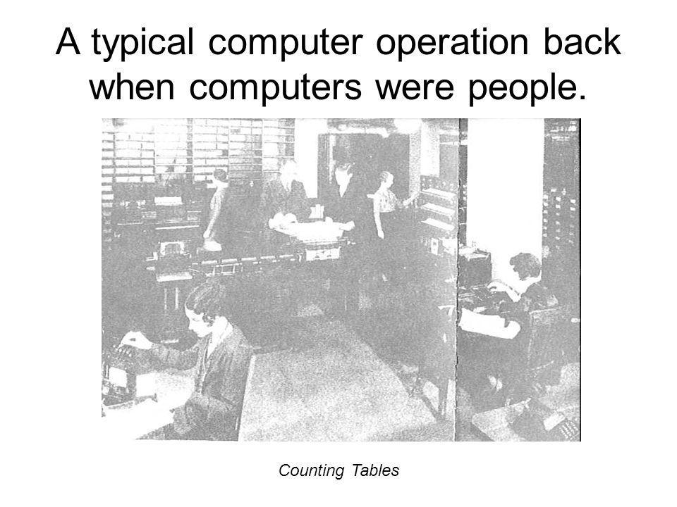 A typical computer operation back when computers were people.