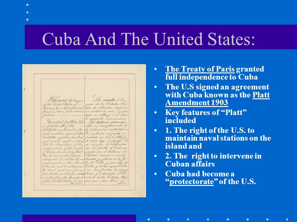 Cuba And The United States: