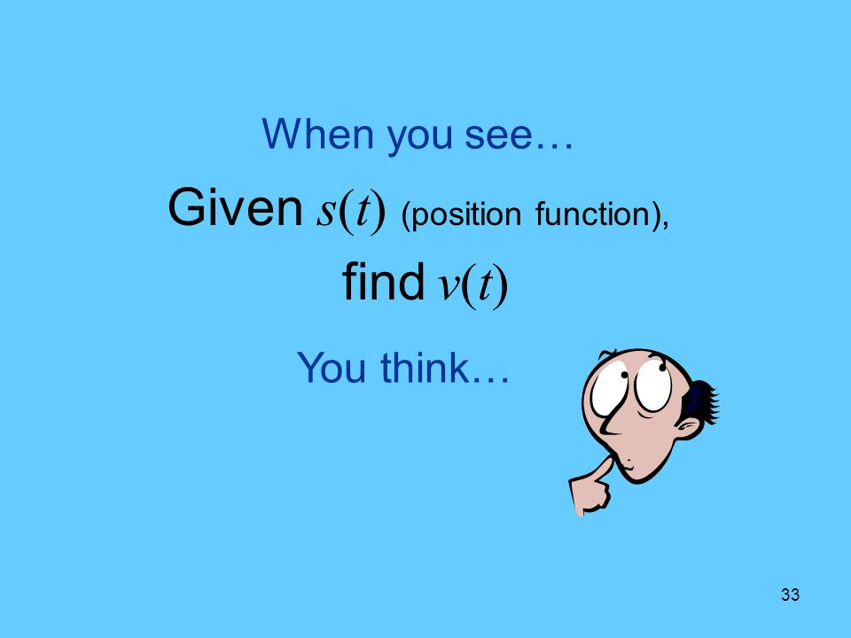 Given s(t) (position function),