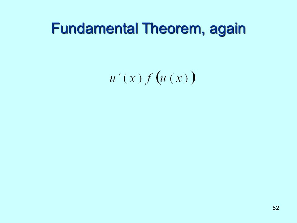 Fundamental Theorem, again