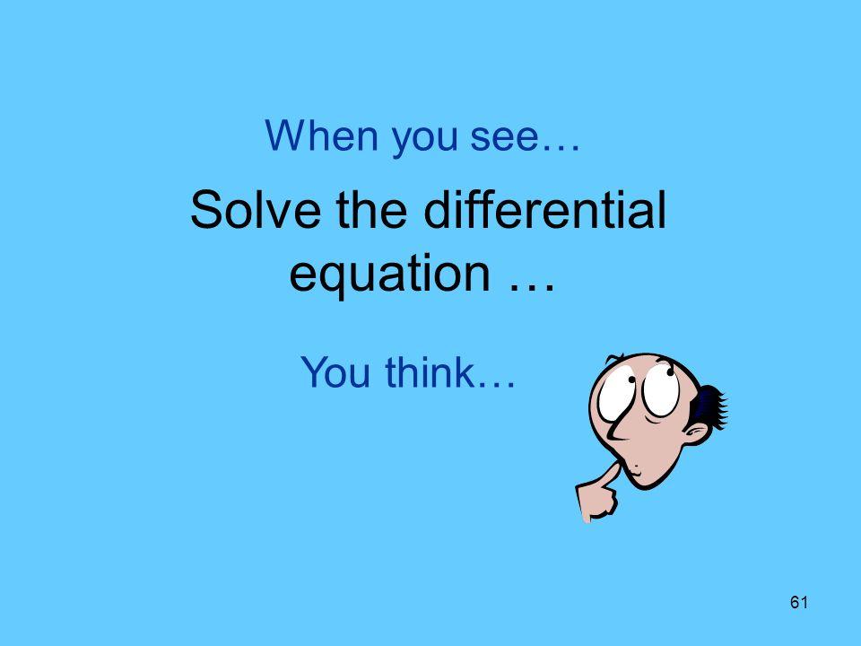 Solve the differential equation …