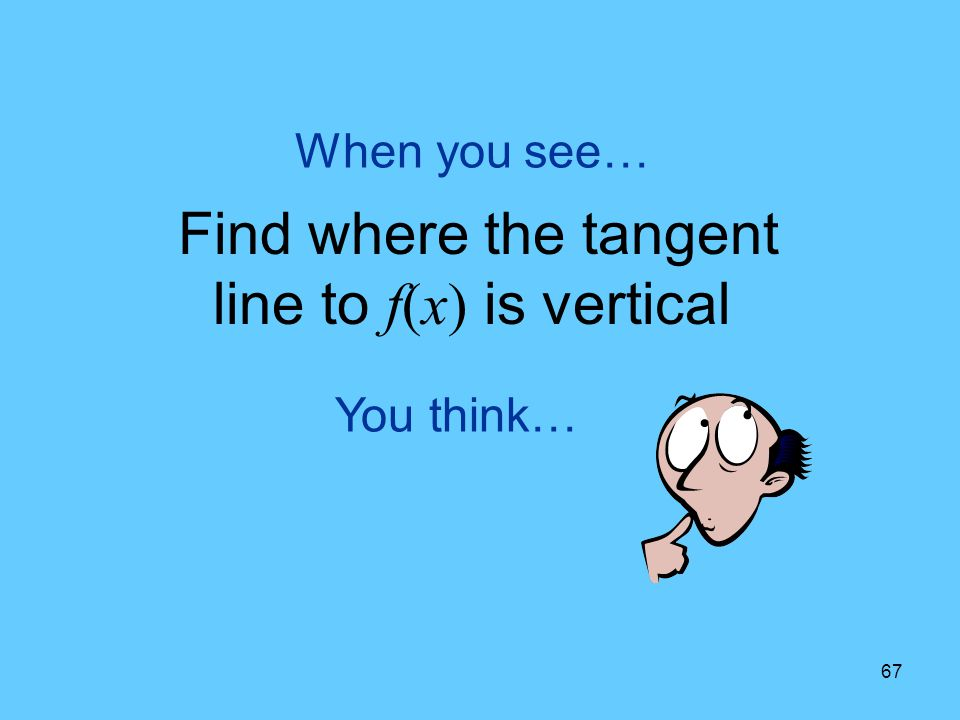 Find where the tangent line to f(x) is vertical