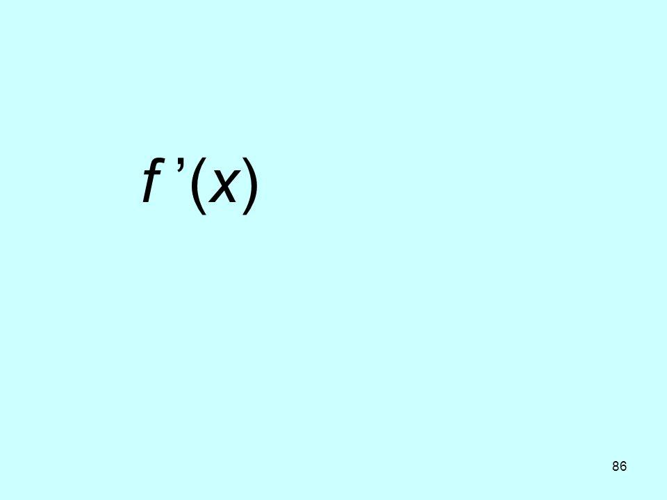 f '(x)