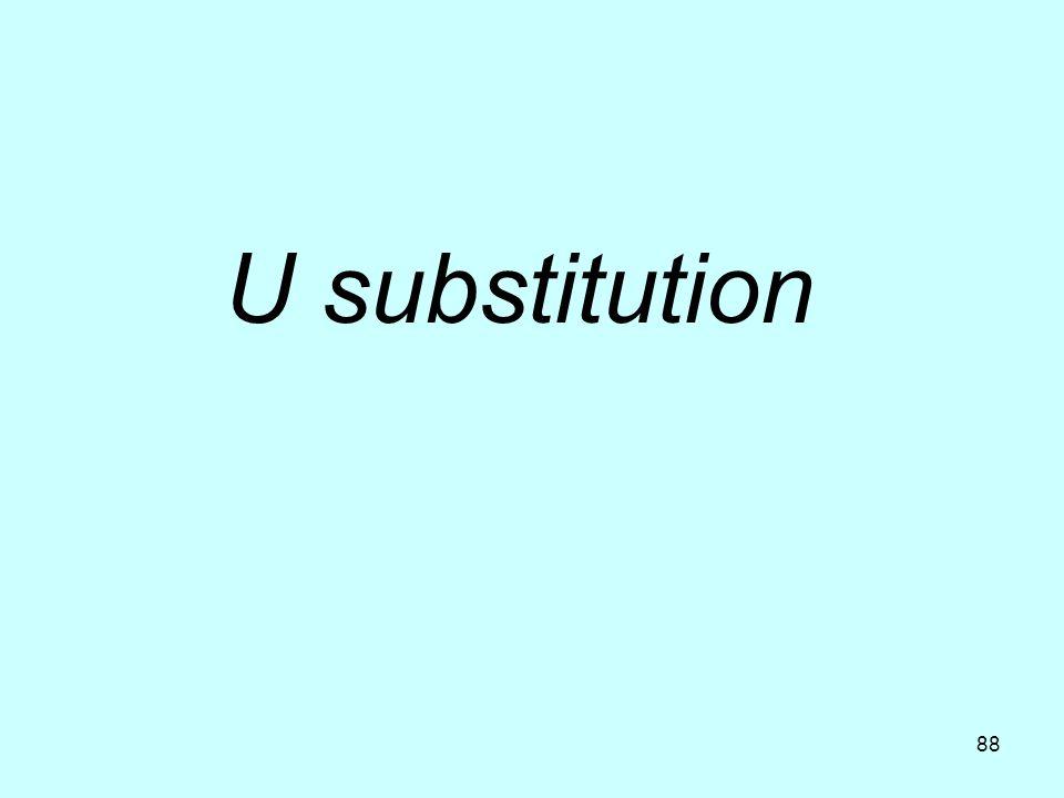 U substitution