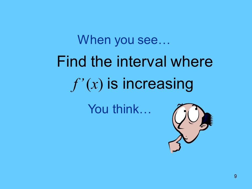 Find the interval where