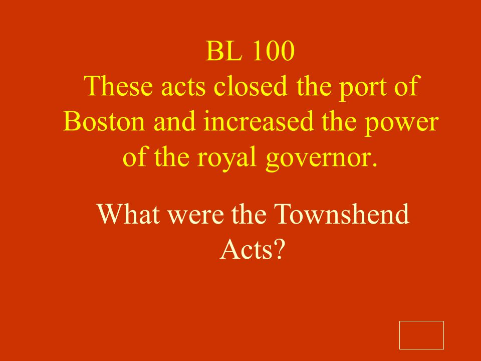 What were the Townshend Acts