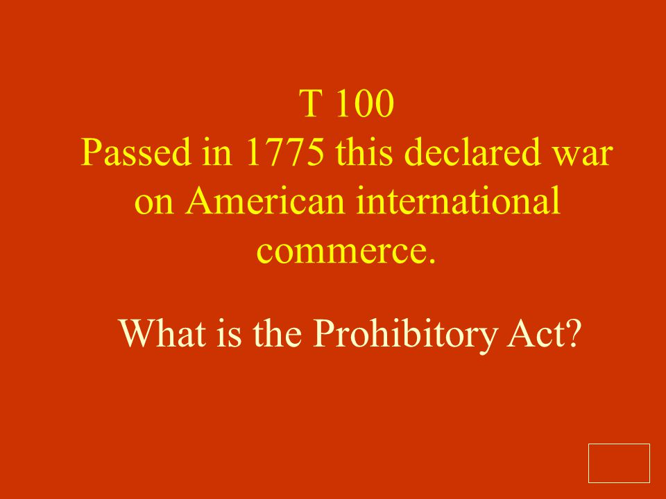 What is the Prohibitory Act