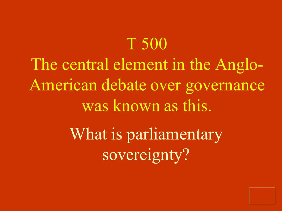What is parliamentary sovereignty