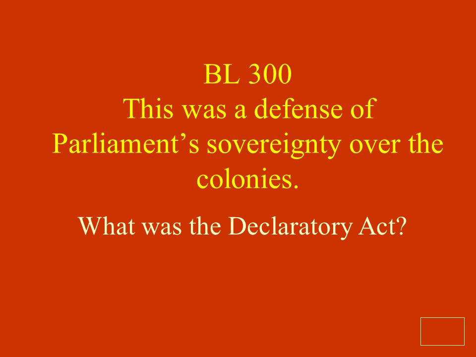 What was the Declaratory Act