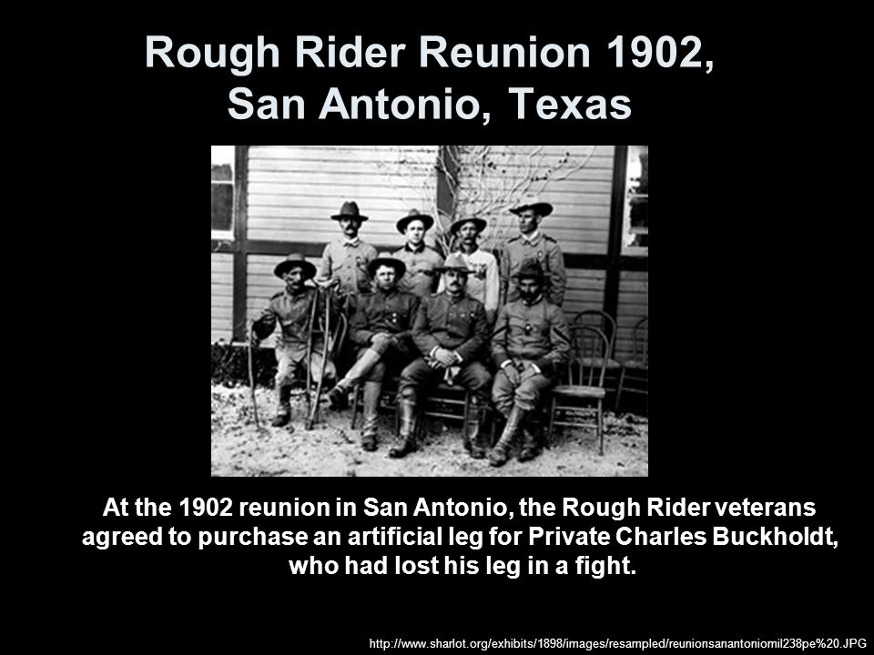 Rough Rider Reunion 1902, San Antonio, Texas