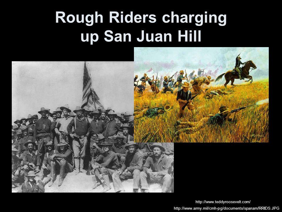 Rough Riders charging up San Juan Hill