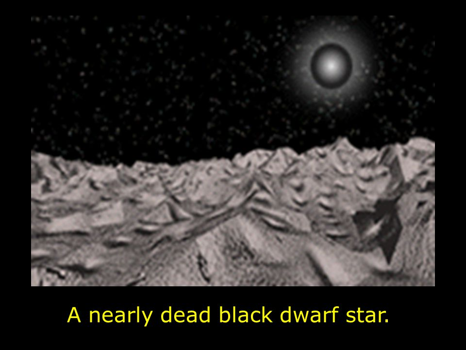 A nearly dead black dwarf star.