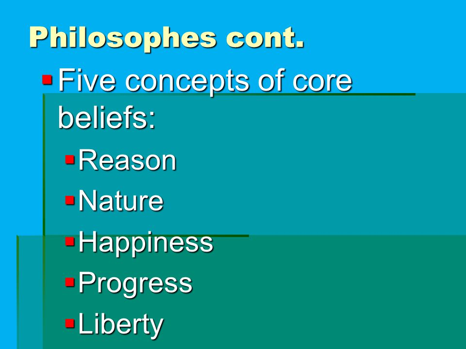 Five concepts of core beliefs: