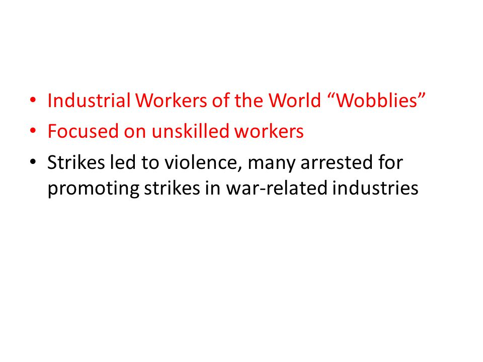 Industrial Workers of the World Wobblies