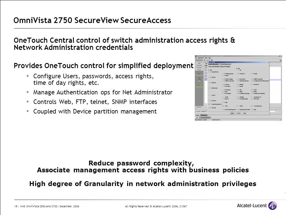OmniVista 2750 SecureView SecureAccess