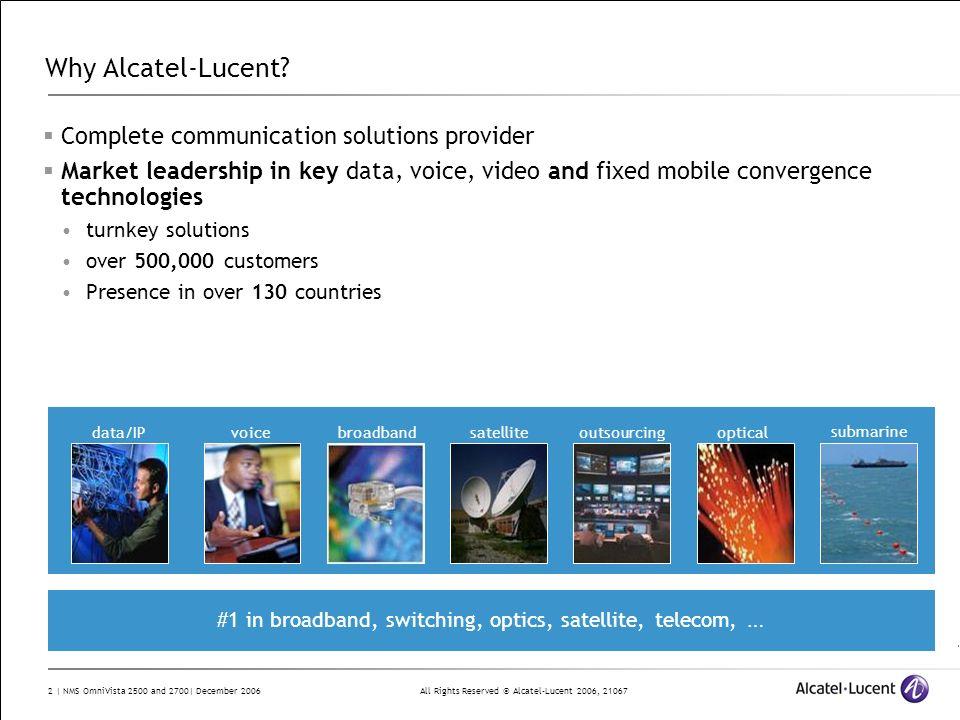 #1 in broadband, switching, optics, satellite, telecom, …