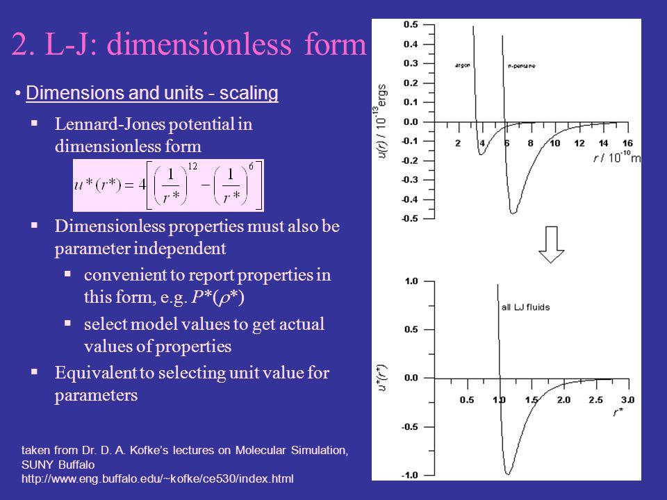 2. L-J: dimensionless form