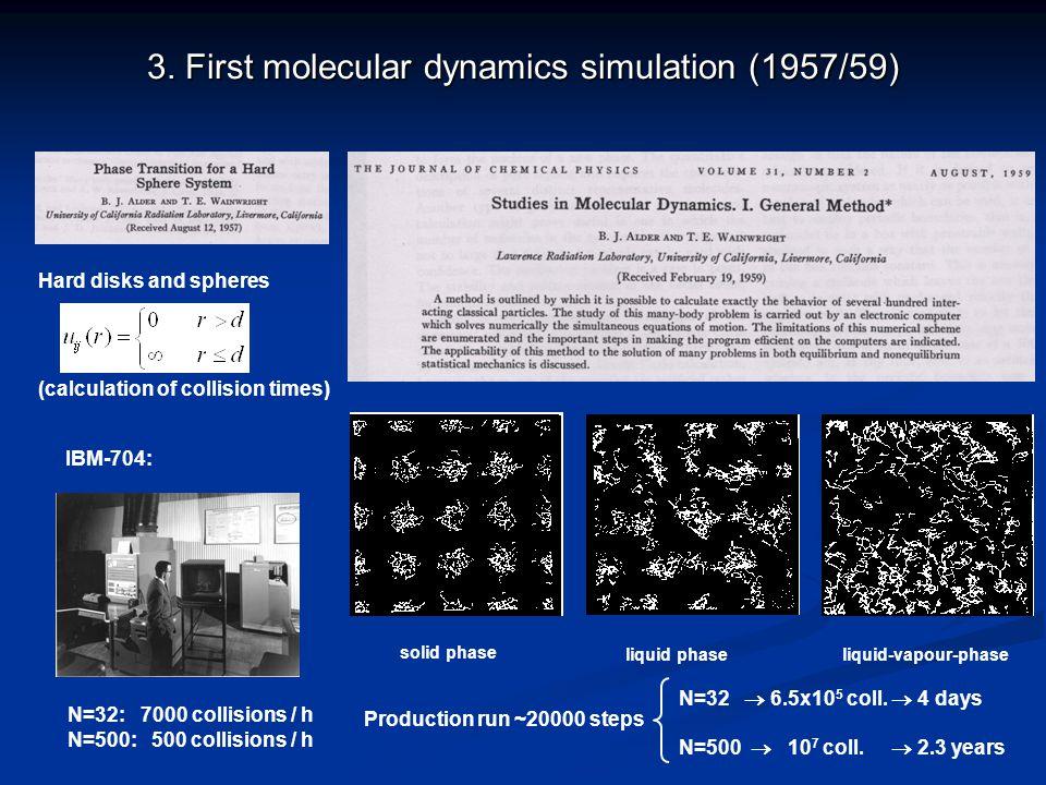 3. First molecular dynamics simulation (1957/59)
