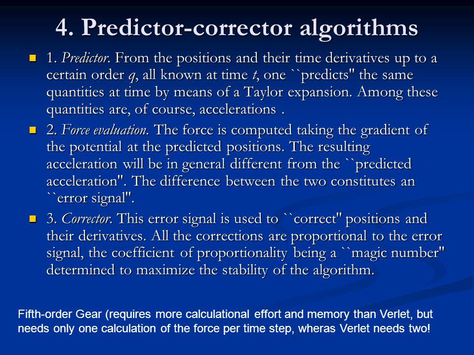 4. Predictor-corrector algorithms