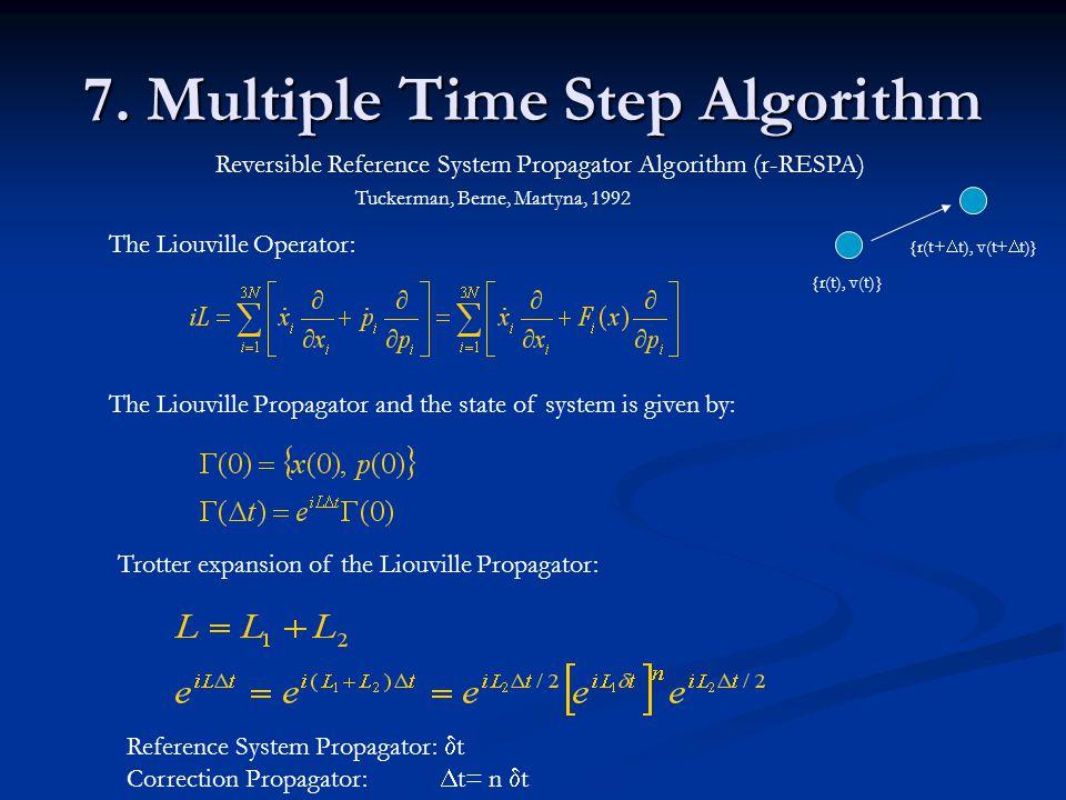 7. Multiple Time Step Algorithm