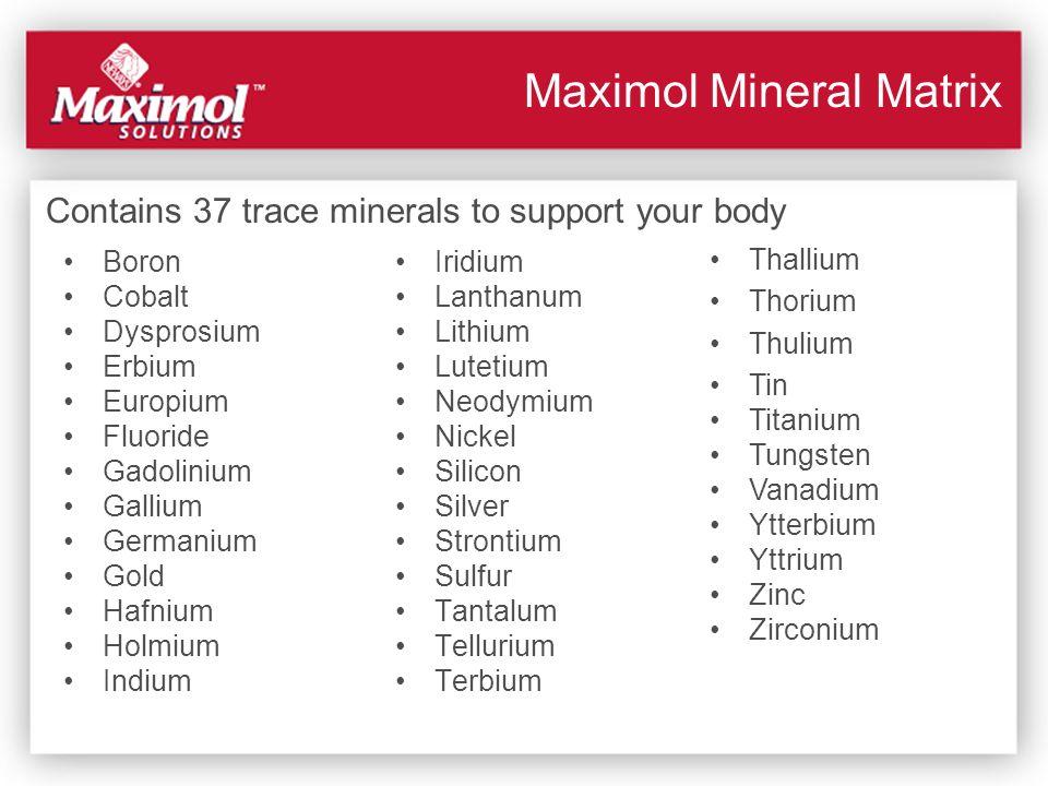Maximol Mineral Matrix