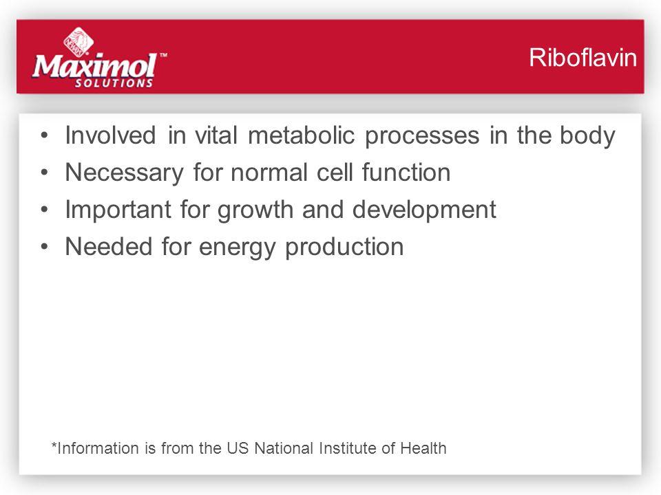 Involved in vital metabolic processes in the body
