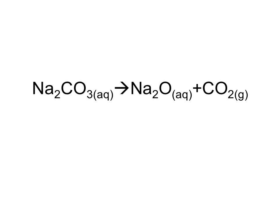 Na2CO3(aq)Na2O(aq)+CO2(g)