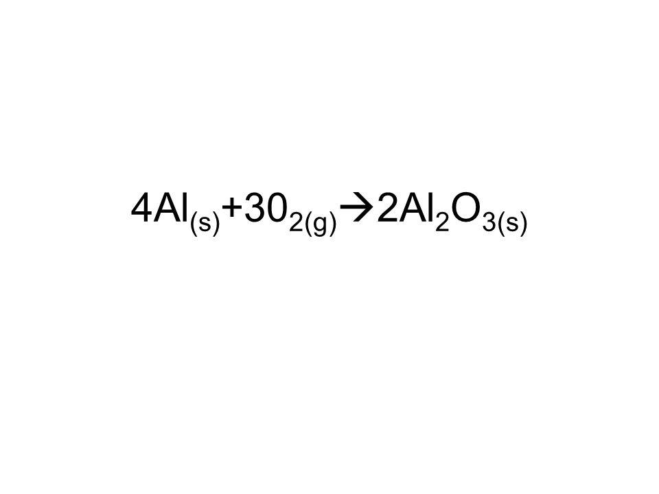 4Al(s)+302(g)2Al2O3(s)