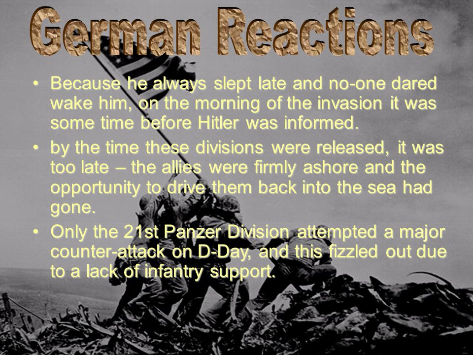 German Reactions