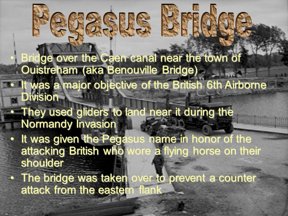 Pegasus Bridge Bridge over the Caen canal near the town of Ouistreham (aka Benouville Bridge)